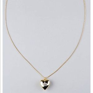 Juicy couture heart necklace with crown